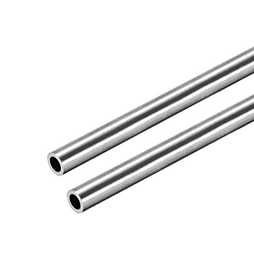 uxcell 304 Stainless Steel Round Tubing 6mm OD 1mm Wall Thickness 250mm Length Seamless Straight Pipe Tube 2 Pcs