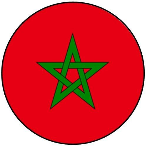SPQR WK 2018 - Marokko - Badges / Sleutelhangers / Flesopeners / Magneten Keyring (58mm) Flag