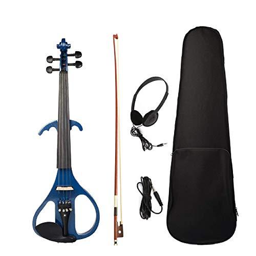 Violín eléctrico de tamaño completo 4/4 violín violín de arce, diapasón de...