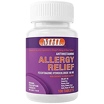 Allergy Relief | Fexofenadine HCl 180 mg | Non-Drowsy Antihistamine | 100 Count Tablets