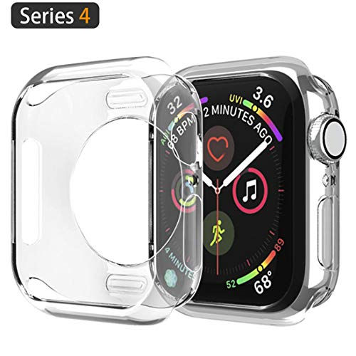 Doboli Compatible Apple Watch Case 40mm iwatch Protector Bumper Soft TPU Cover Case for Apple Watch Series 4 Clear