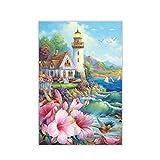 assoluto Seaside Lighthouse Jigsaw Puzzle, 150 Piezas En Caja Fotografía Juguetes Juego Arte Pintura, Adultos Y Niños Stress Reliever Puzzle
