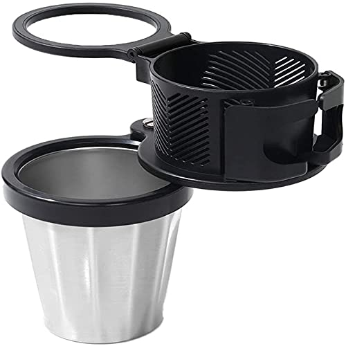wgkgh All Purpose Car Cup Holder and Organizer, 2-in-1 Car Cup Holder Expander Adapter, Multifunctional Car Cup Holder with 360 Rotating Adjustable (A)