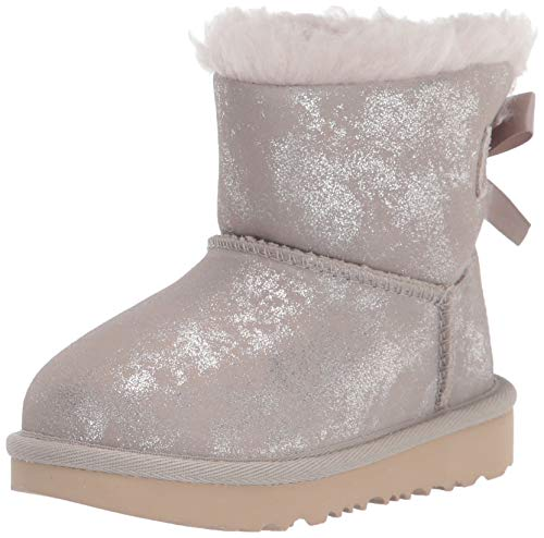 UGG Mädchen Mini Bailey Bow II Shimmer Klassische Stiefel, Ziege, 31 EU