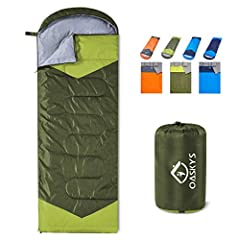 USED FOR 3 SEASONS:Our Sleeping Bags can be used for 3 seasons.They are designed for 35~50 Degrees Fahrenheit. Moreover, these bags also have a weather-resistant design to keep you warm even in extreme conditions and prevent you from any dampness - t...