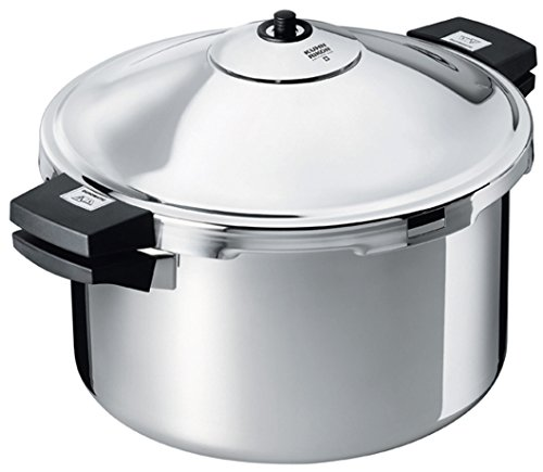 "Kuhn Rikon DUROMATIC Pressure Cooker 11"" 8.45 qt family of 6 wide base for better braising"