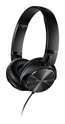 Philips SHL3850NC/00 Kopfhörer mit Geräuschreduzierung (Noise Cancelling, Faltsystem) schwarz