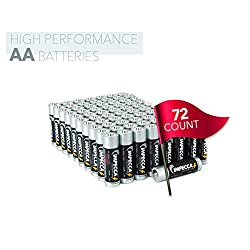 IMPECCA AA Batteries (72 Pack) High Performance All Purpose Double A Alkaline Battery, 1.5 Volt, LR6 72-Count (Retail Packed 2 Packs of 36)