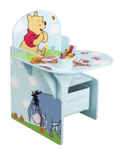 Delta, Poltroncina per bambini con tavolino laterale Winnie the Pooh in MDF, cassetto in canvas