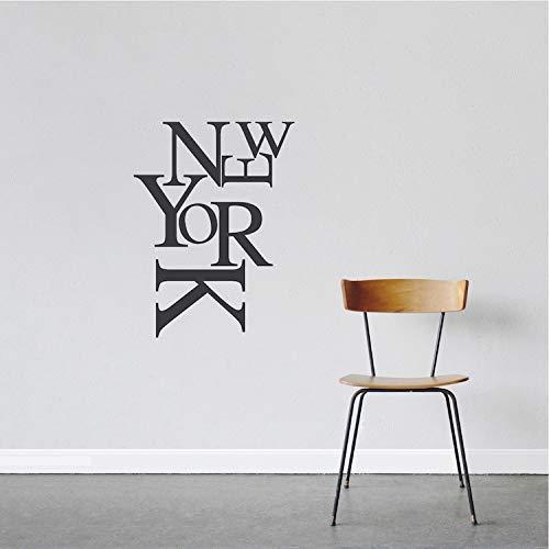 Moderne New York Wandaufkleber Schriftzug Aufkleber Dekor Wohnzimmer Tapete Künstlerisches Design Wandtattoo Poster 43 * 58 Cm