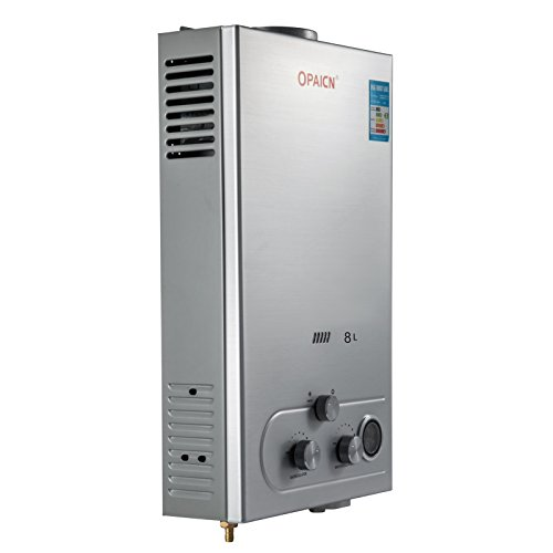 Cueffer LPG Calentador de Agua Calentador de Agua de Gas Licuado 36KW Calentador de Agua Automático LCD Digital Calentador de Agua Instantáneo Propane Gas Hot Water Heater (8L)