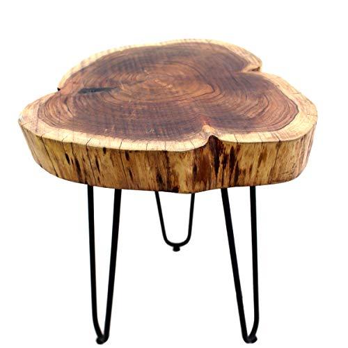 Beistelltisch, Couchtisch, Akazienholz, Massivholz, Gall&Zick (Baumscheibe Durchmesser ca 40cm)