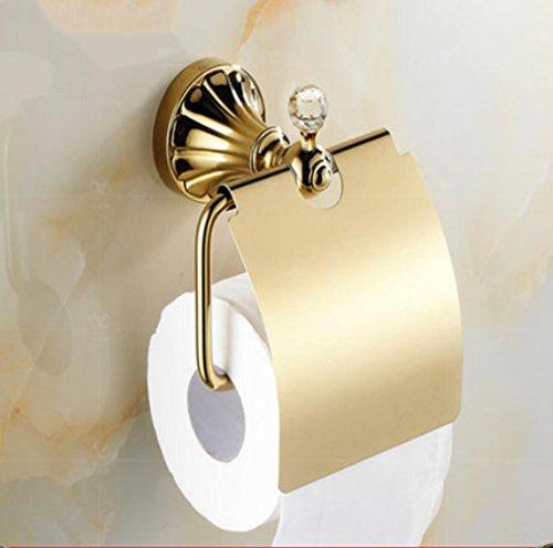 SQL Europäische kreative Handtuch Rack-vergoldete Toilettenpapier Roll Halter Bad Zubehör Hardware Badezimmer . b1