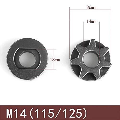 NO LOGO FJJ-JU, M10 / M14 / M16 de la Motosierra Gear 100 115 125 150 180 Ángulo Grinder reemplazo Gear Sawing piñón de Cadena de la Rueda for la Motosierra Bracket (tamaño : M14)