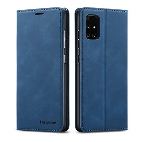 LENASH For el caso de cuero Samsung Galaxy A31 Serie ideal del aceite Edge fuerte magnetismo Giro horizontal con el sostenedor y ranuras for tarjetas y monedero y foto del caso del capítulo de teléfon