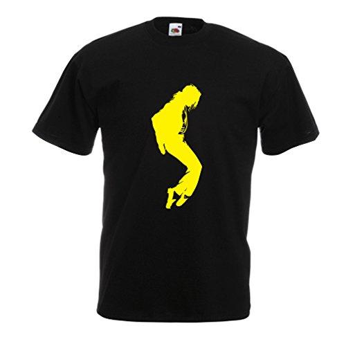 lepni.me Camisetas Hombre Me Encanta MJ - Ropa de Club de Fans, Ropa de Concierto (Medium Negro Amarillo)
