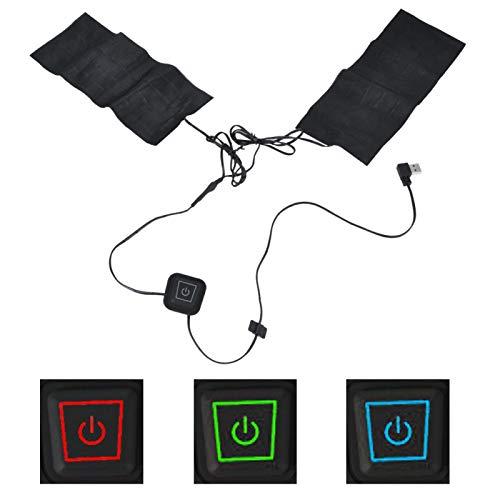 Cyrank Almohadilla térmica eléctrica 2 en 1, Almohadilla térmica USB para Chaleco, Almohadillas calefactoras Ajustables, lámina calefactora para Actividades al Aire Libre en Invierno frío