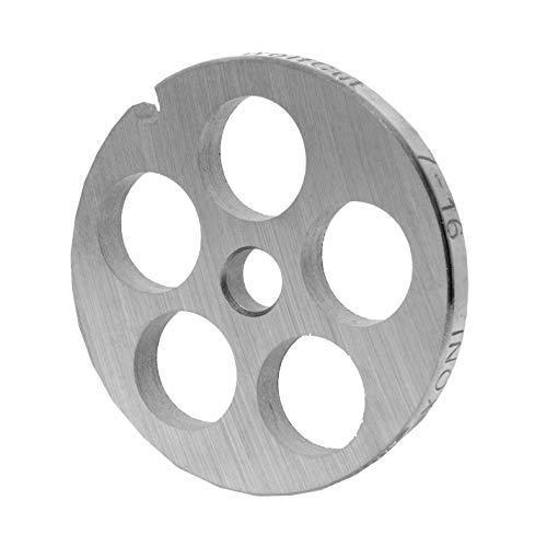 WolfCut INOX Lochscheibe Gr. 7-16,0 mm Bohrung - passend für alle gängigen Fleischwölfe Größe 7 – z.B.: Bosch MUM6/MUM7 - Jupiter Größe 7, Kenwood A900, Regina BME 7 und viele mehr.
