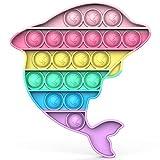 BDwing Silicona Sensorial Fidget Juguete, Push Pop Bubble Sensory Toy, Autismo Necesidades Especiales Aliviador del Antiestrés del Juguetes para Niños Adultos Relajarse (color whale)