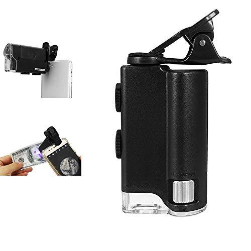 Hangang telefooncameralens Kit mobiele telefoon loep Universal optisch zoom lens Marco lens focus telescoop groothoek lens loep met licht voor ontwerp, munten, stempels, geneeskunde, printplaat