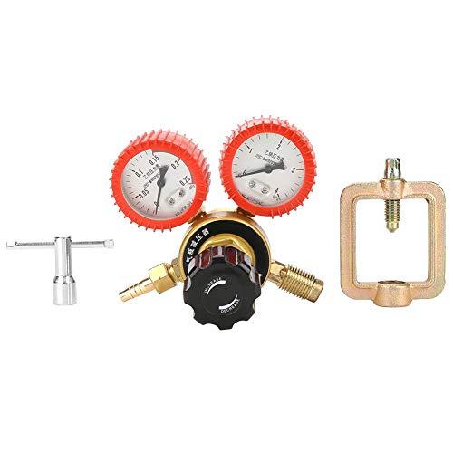 Regulador de presión, 0.01-0.15MPa Reductor de presión de gas acetileno Regulador de flujo de aire Manómetro Medidor Regulador de presión...