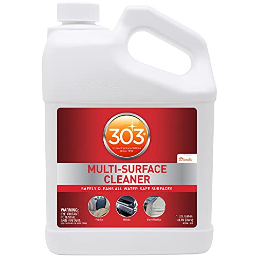 303 (30570) Products Marine Multi Surface Cleaner - Safely Cleans All Water Safe Surfaces - Recommended by Sunbrella - Ultimate Cleaning Power - 1 Gallon, Red, 128 Fl. oz.