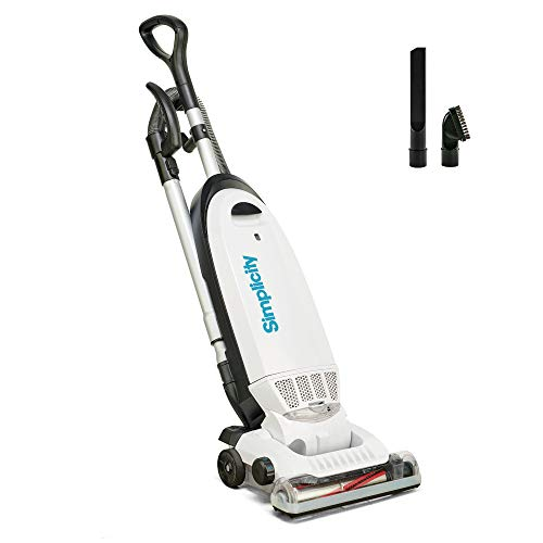 Allergy Upright Vacuum for Carpet and Hardwood by Simplicity - Multi Surface Vacuum Cleaner with Certified HEPA Filter and Bag - S20EZM