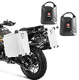 Set Maletas Laterales Aluminio Moto Bagtecs Namib 2x40l + Bolsas Interiores