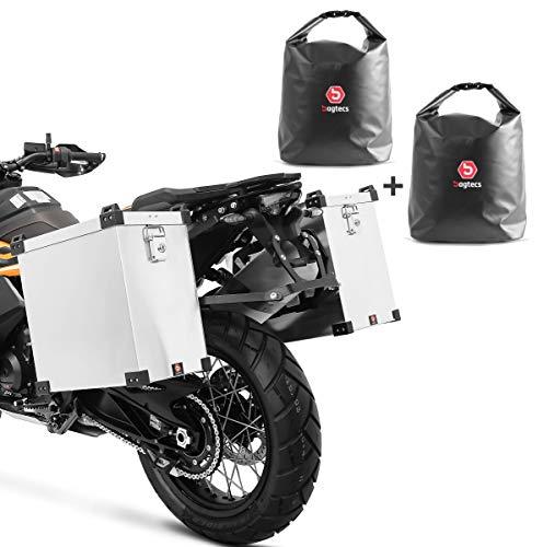 Set Motorrad Alukoffer Bagtecs Namib 2x40l + Drybag Innentaschen Seitenkoffer