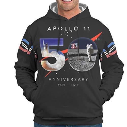 Dofeely Apollo 11 50e verjaardag thema Jungen Männer Kapuzenpullover Langarm NASA Leicht Persönlichkeit lange mouwen trekkoord Taschen Beste cadeau voor kinderen