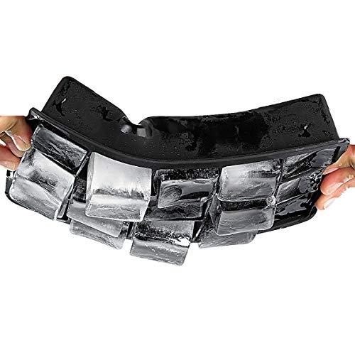 Molde para cubitos de hielo de Soapprofis®, XXL, de silicona, 3,3 x 3,3 x 3,3 cm, sin BPA, silicona, Negro , 1 Silikonform