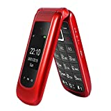 Big Button Mobile Phone for Elderly, Dual Sim Free Flip Phone Unlocked,Basic Mobile