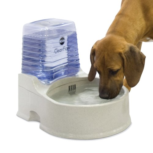 K&H Pet Products CleanFlow Filtered Pet Water Bowl With Reservoir Large 2gal + 1.5gal Granite