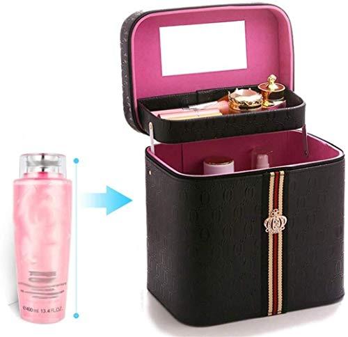 Tragbare Kosmetiktasche, Große Kapazität Spiegel Staubdicht Lagerung Schönheit Maquillage Aufbewahrungstasche Reise Männer Und Frauen Aufbewahrungsbox (Color : H)
