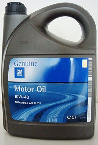 General Motor oil semisintetico 10w40 ACEA A3 B4 API SL CF tanica da 5L