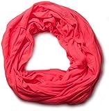 styleBREAKER Jersey Loop bufanda en óptica de choque, colores sólidos, elástica 01016041, color:Rojo neón