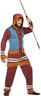 Mens Adult Eskimo Explorer Carnival Halloween Xmas Fancy Dress Costume Outfit
