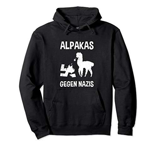 Alpakas Gegen Nazis Design Gegen Rechts Black Lives Matter Pullover Hoodie