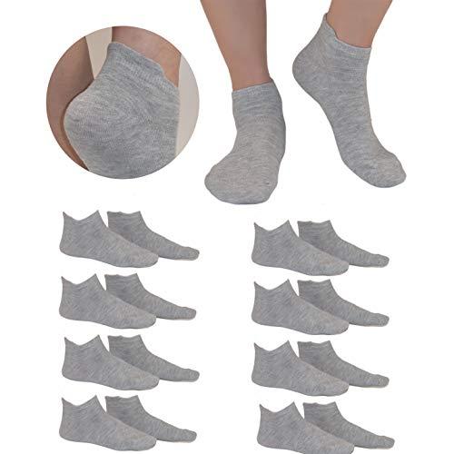 GUYU Calcetines Mujer Y Hombre 8 packs Calcetines Antiampollas Calcetines Running Hombre calcetines deporte hombre Anti-Rozaduras Calcetines Mujer Cortos Verano Algodon Moda gris