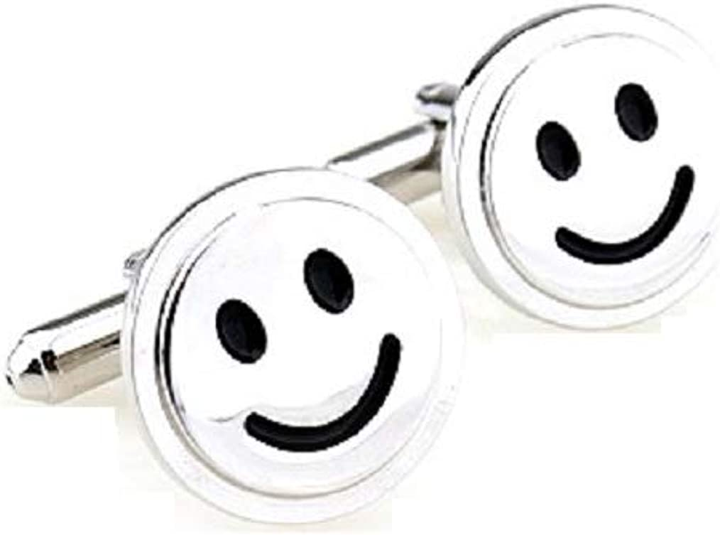 MRCUFF Smile Smiley Face Dentist Dental Cufflinks Pair in Presentation Gift Box & Polishing Cloth
