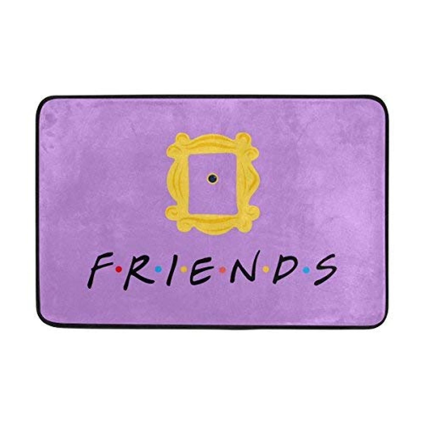 報酬の愚かスカーフドアマットフレンズテレビ番組カード屋内/屋外の装飾の敷物Doormat滑り止めの家の装飾 75x45 CM