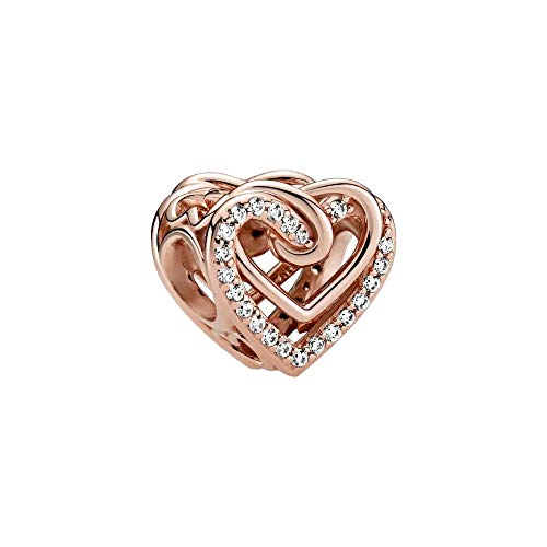 PANDORA Sparkling Entwined Hearts PANDORA Rose Charm - 789270C01