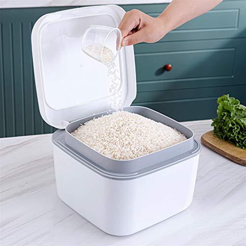 ZSZJ Flasche 1 stück Reisvorratsbehälter mit Deckel Korn Mehlspender Feuchtigkeitsdichte Bin Box Lager (Color : As Shown, Size : 24X24X17CM)