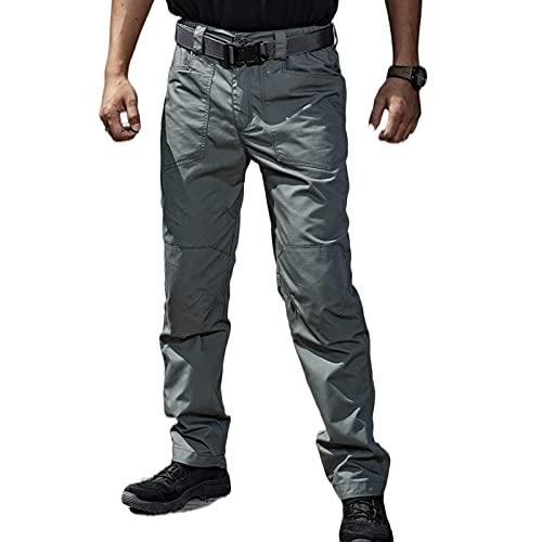 Q&M Pantalón de Senderismo para Hombre Transpirables Ligeros Pantalones Trekking Impermeables Pantalon de Trabajo