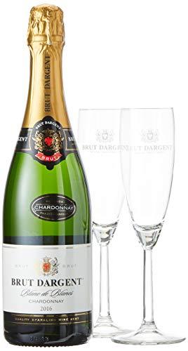 Brut Dargent Sparkling Geschenkpaket mit 2 Gläsern (1 x 0.75 l)