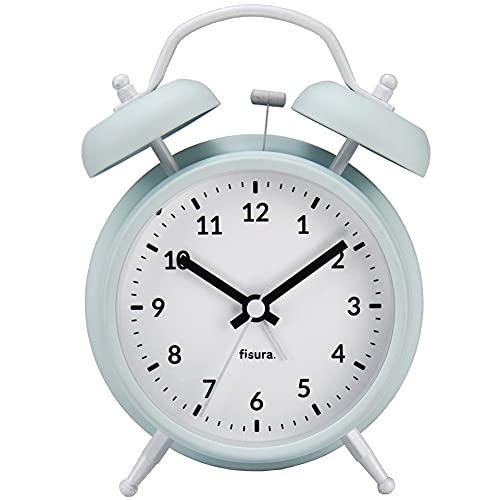 Fisura   Reloj Despertador Retro Menta & Blanco