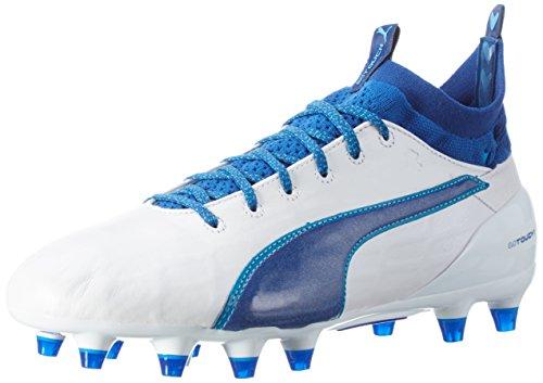 Puma Evotouch 1 FG, Botas de fútbol para Hombre, Blanco White-True Blue-Blue Danube 03, 42 EU