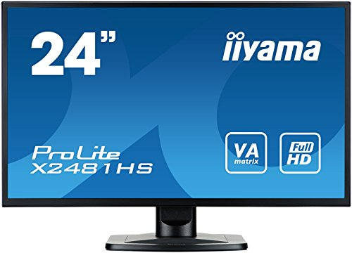 """iiyama ProLite X2481HS-B1 60cm (23,6\"""") VA LED-Monitor Full-HD (VGA, DVI, HDMI) schwarz"""