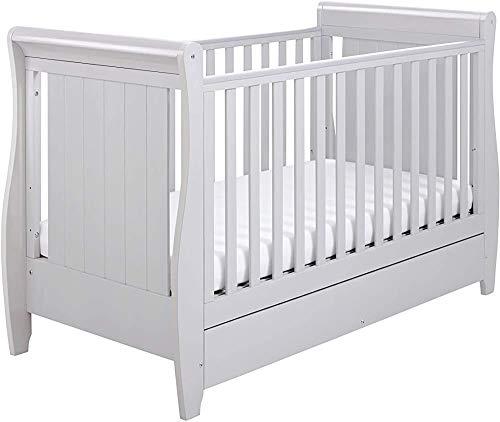 Encofrado de madera de pino con cajones cuna, camas para niños pequeños, cunas se puede instalar para la cama normal,161 x 76 x 100cm