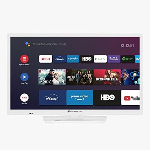 EAS Electric   E24AN70W   Televisor Blanco   Televisión 24 Pulgadas   Smart TV   LED (ELED)   HD Ready 1366 x 768 16:9   DVB-T/T2/C/S/S2 HEVC   WiFi   Android TV   Google Cast   USB 2   HDMI 3